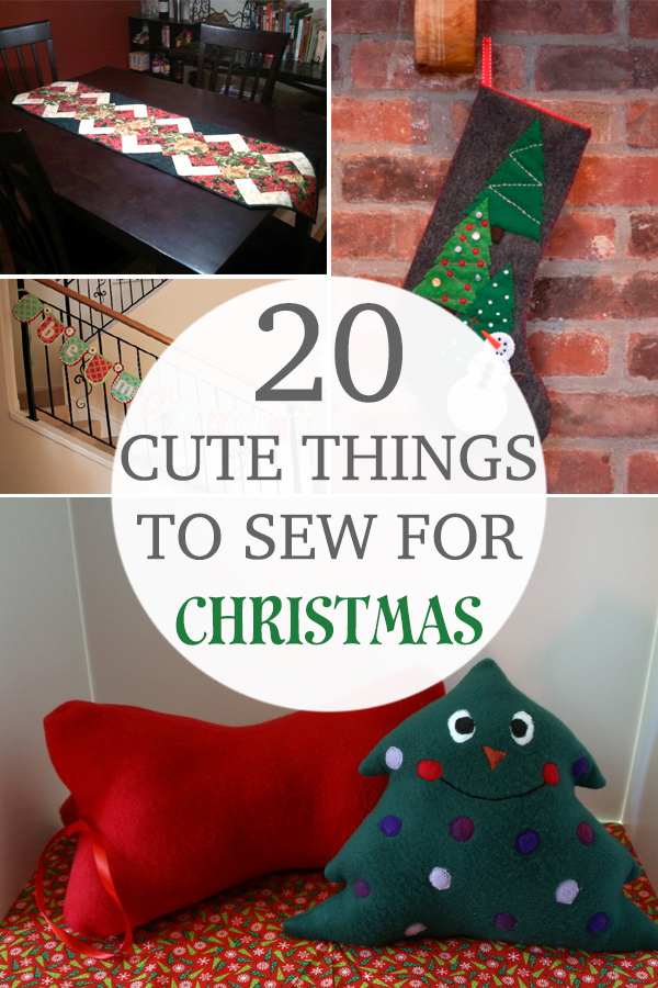 20 Cute Things to Sew for Christmas