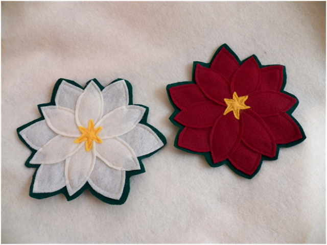 Christmas Poinsettia Coasters