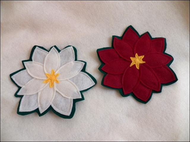 Christmas Poinsettia Coasters