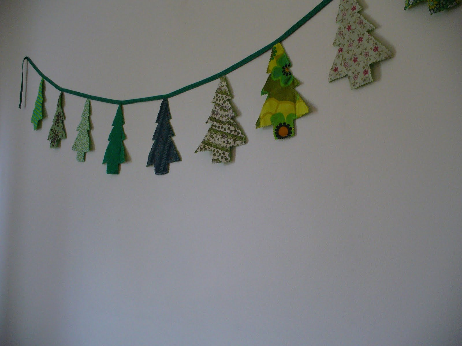 christmas tree bunting - Christmas Wall Decor
