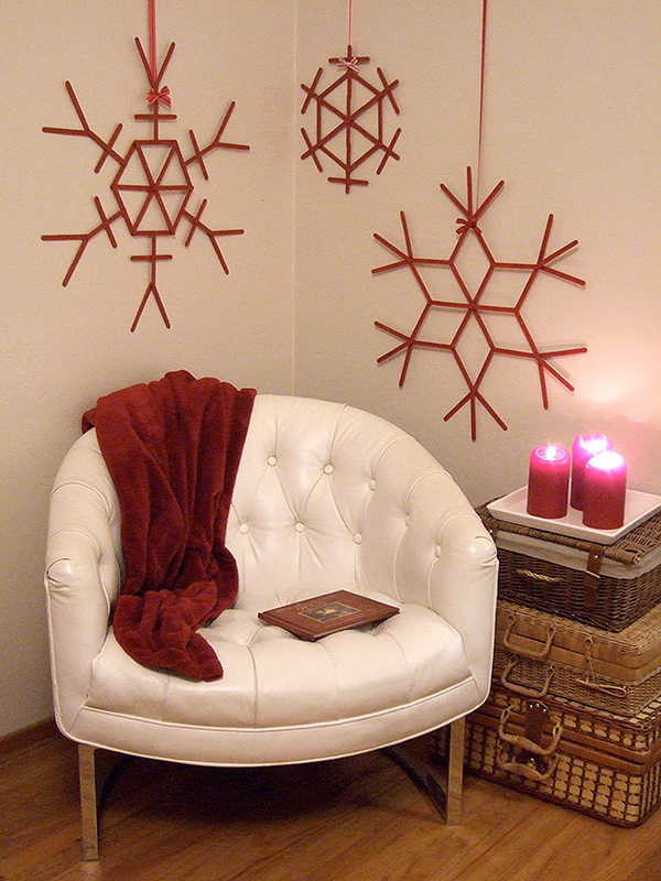 1 craft stick snowflakes