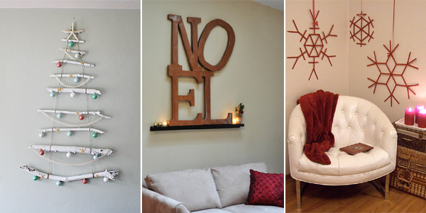 Christmas Wall Decor Diy : Creative diy christmas wall decor ideas
