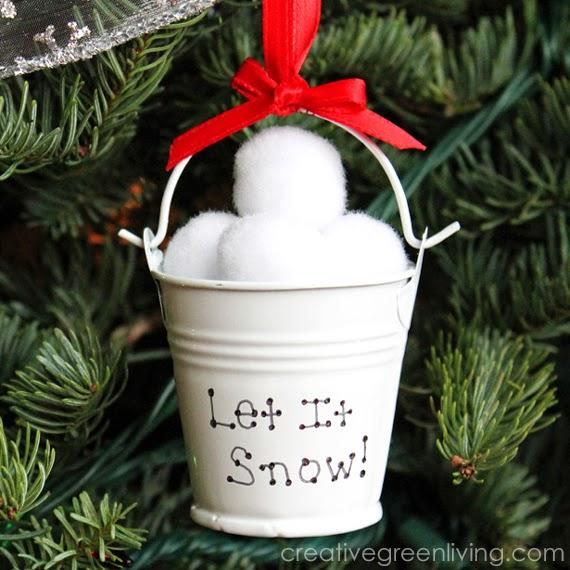 Dollar Store Snow Ball Christmas Ornament