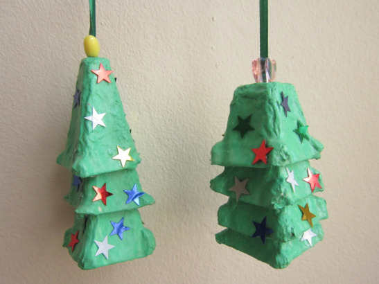Egg Carton Christmas Trees