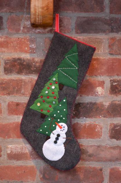 Felt Snowman Stocking