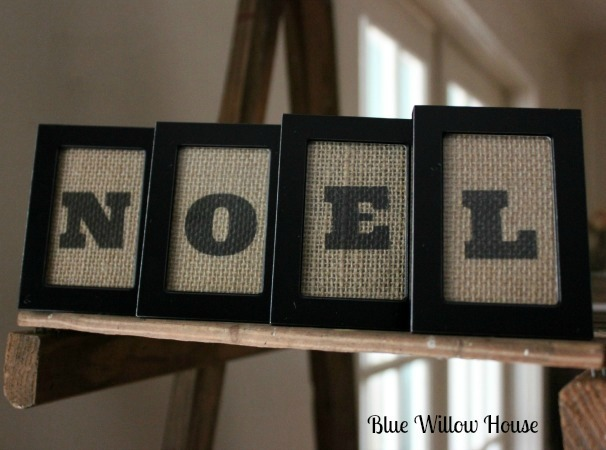 1 framed burlap christmas sentiment
