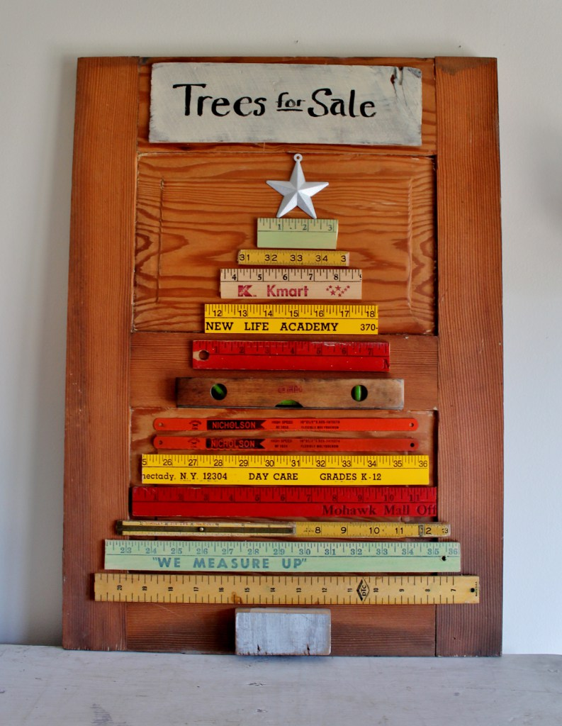 Fun Christmas Tree Made from Yardsticks