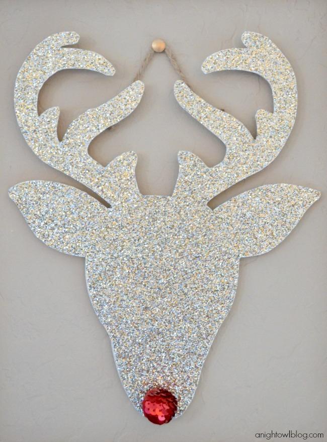 Glitter Rudolph Wall Art