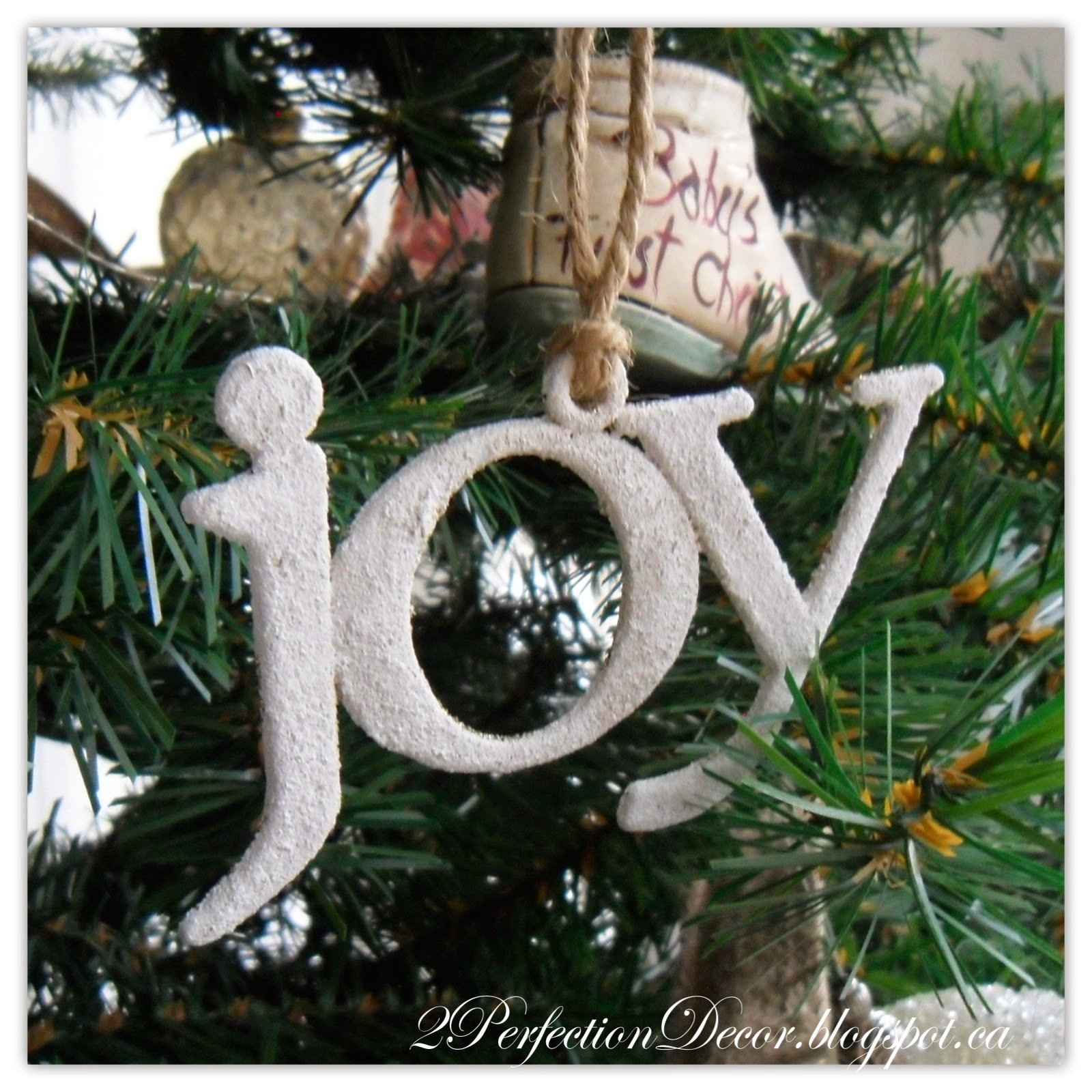 JOY Dollar Store Ornament
