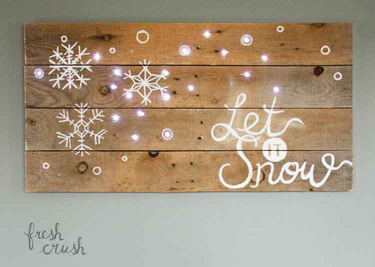 Pallet Holiday Sign