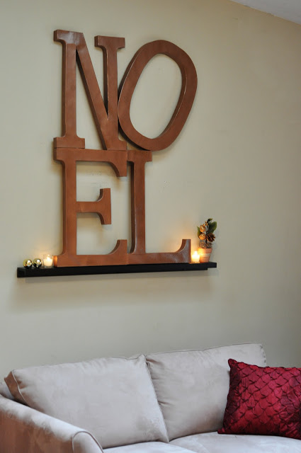 Pottery-Barn Inspired Noel Wall Art
