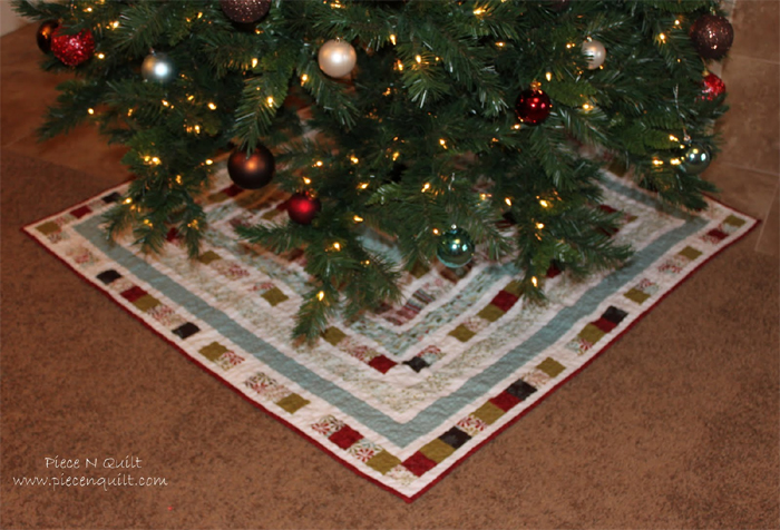 Quilted DIY Christmas Tree Skirt