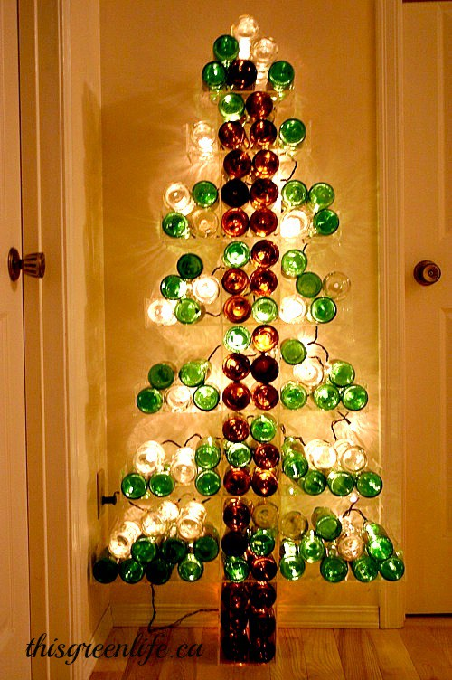Re-Purposed Wine Bottle Tree