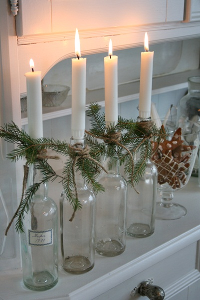 Wine Bottle Candlesticks