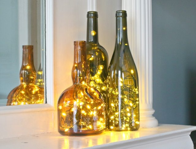 Wine Bottle Christmas Light Display