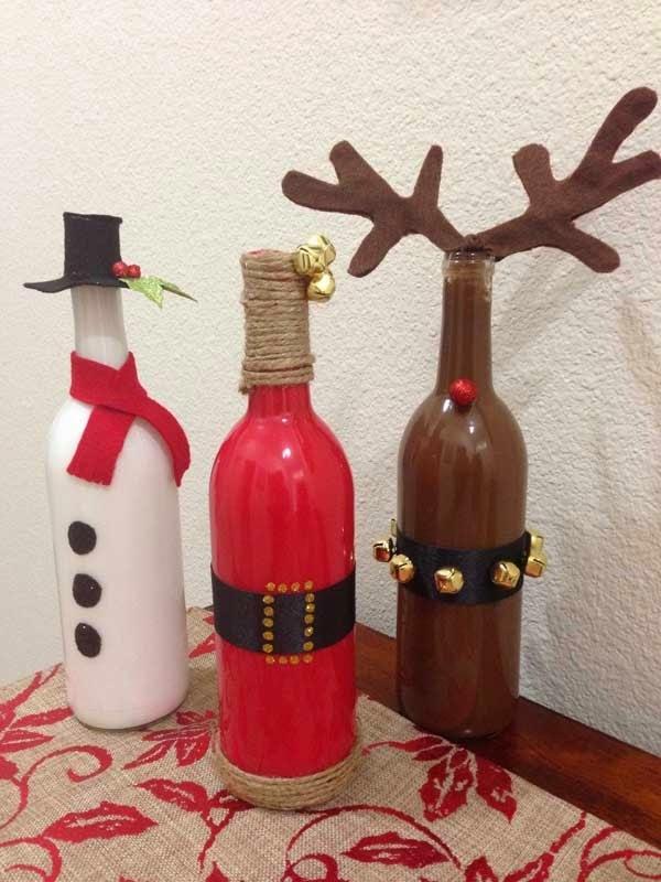 Wine Bottles Christmas Decorations