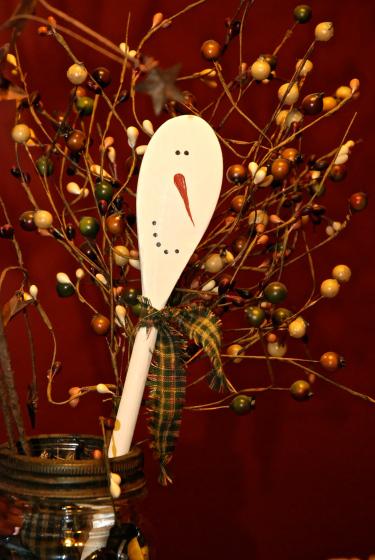 wood spoon snowman