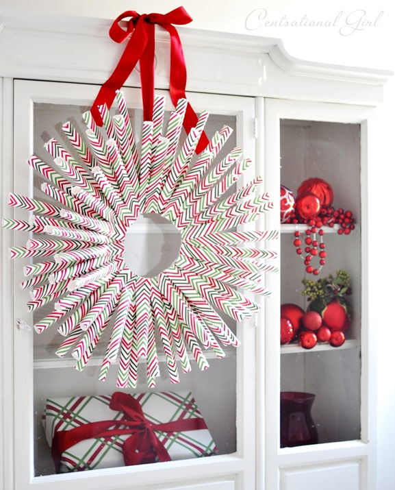 Wreath from Leftover Wrapping Paper