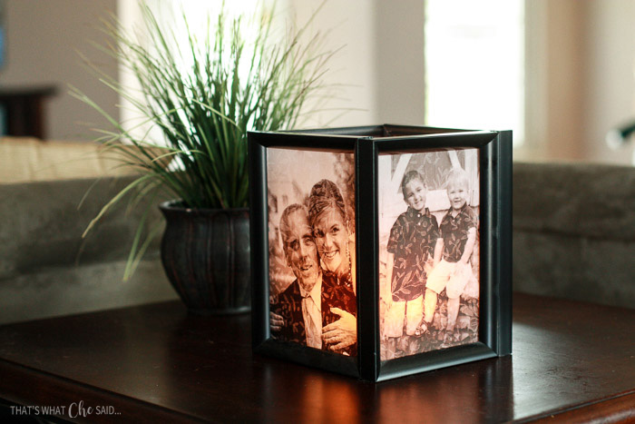 picture frame luminaries