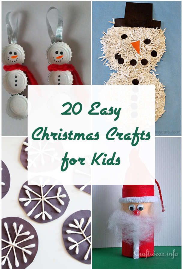 20 Easy Christmas Crafts for Kids