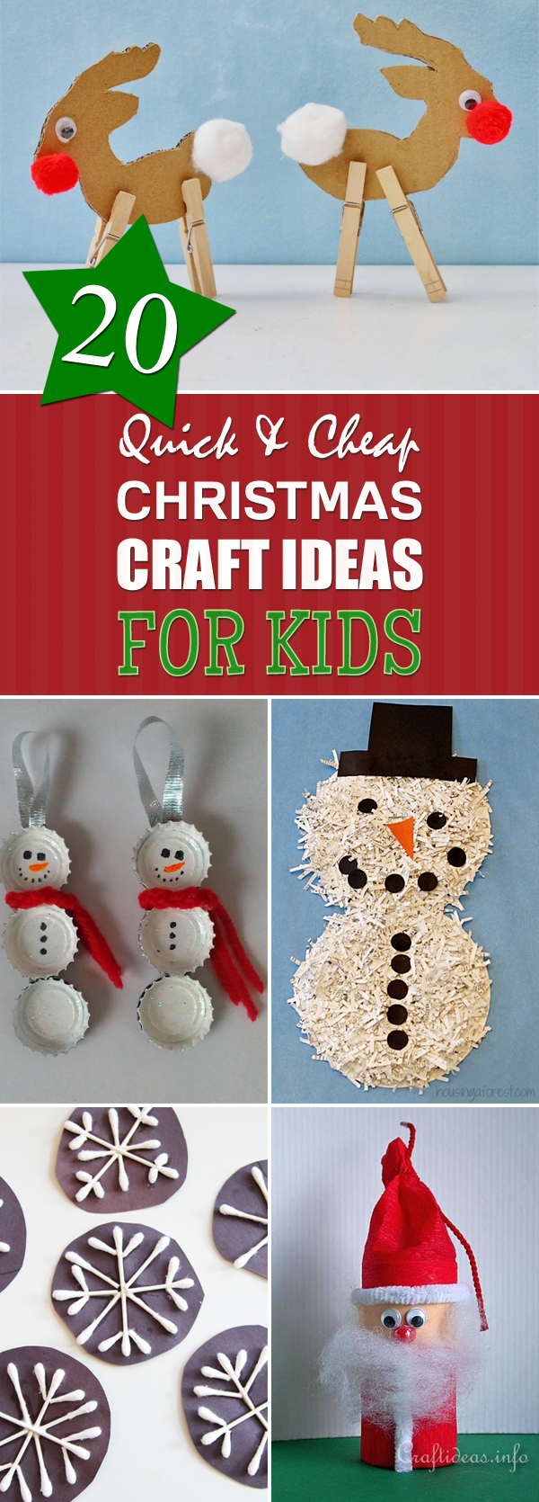Cheap Christmas Craft Ideas For Kids Part - 37: DIY Roundup