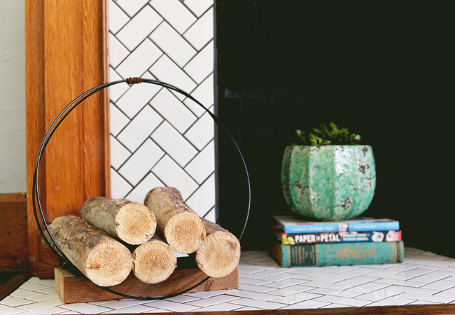 Midcentury-Inspired Firewood Holder