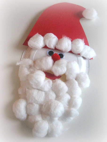 Paper Plate & Cotton Ball Santa