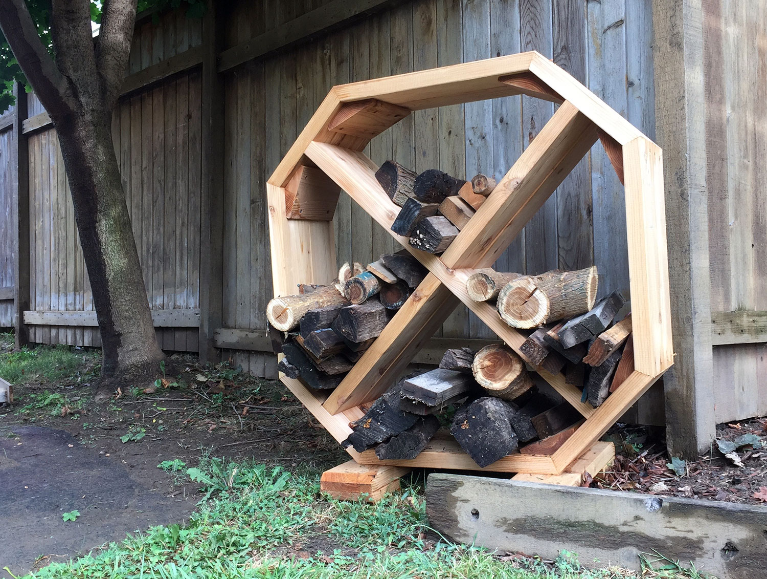 Stylish Octagonal Firewood Rack