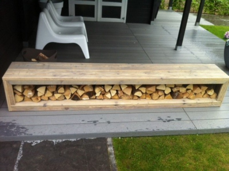 Under-the-Bench Firewood Storage