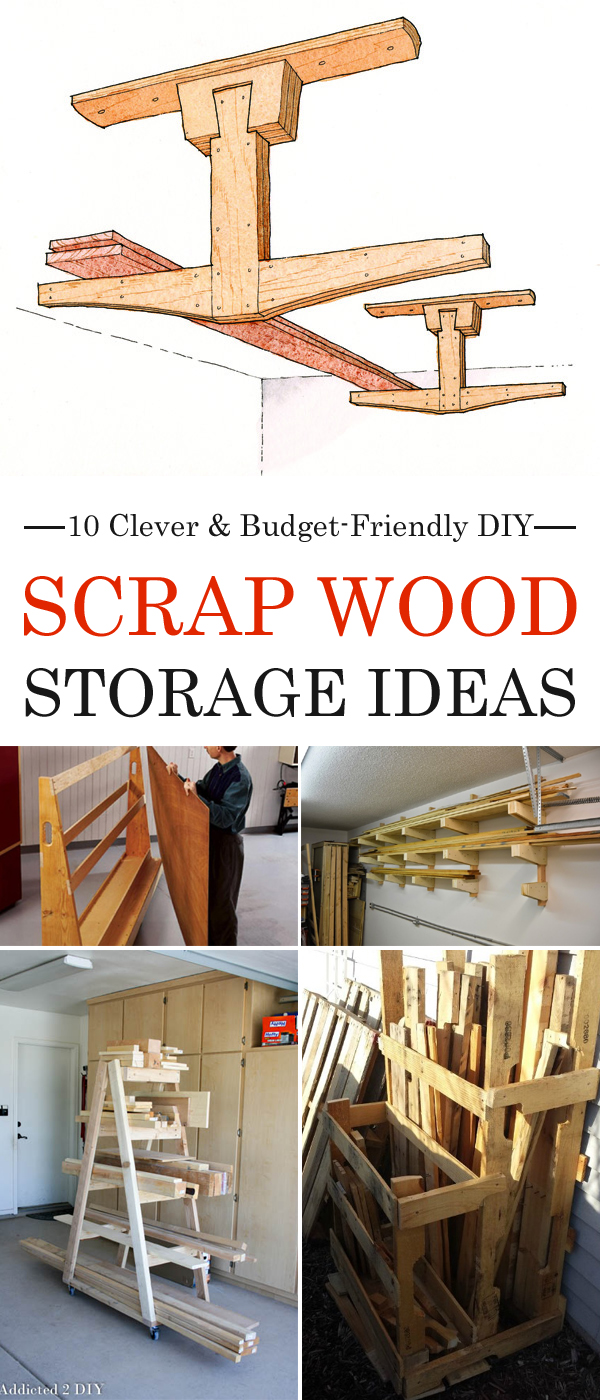 & 10 Clever u0026 Budget-Friendly DIY Scrap Wood Storage Ideas
