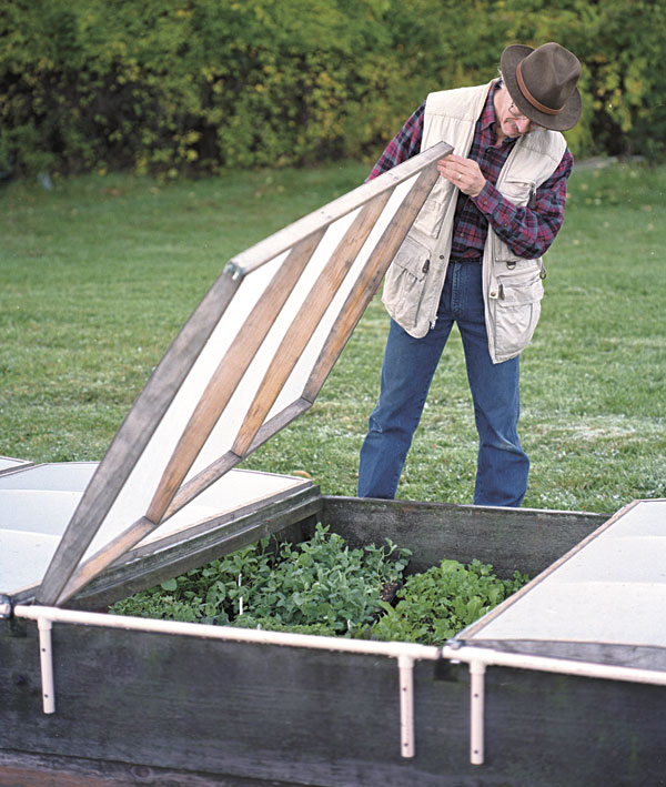 cold frame with a lightweight lid