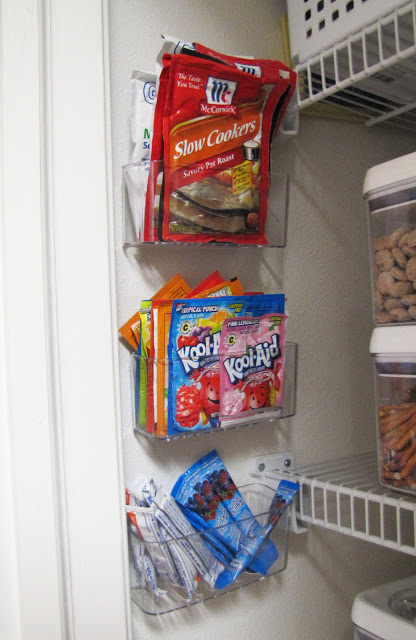 Create extra pantry storage with clear sponge holders