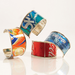 Cute Bracelets Out of Soda Cans