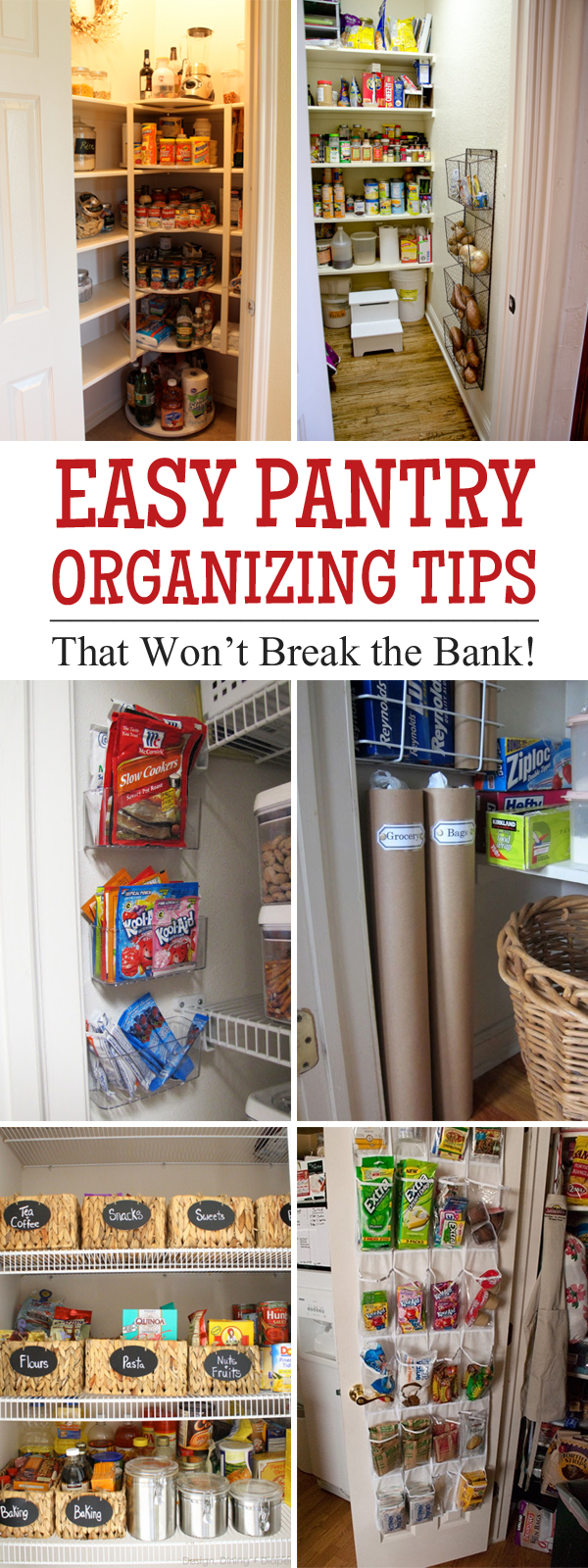 Easy Pantry Organizing Tips That Won't Break the Bank