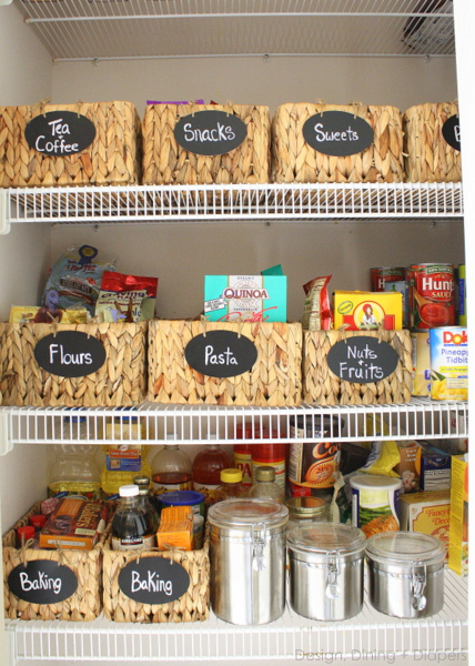 Labeling your storage containers can make everything in your pantry easier to find at a moment's notice