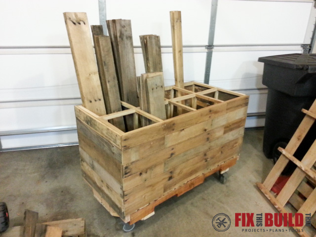 Mobile Pallet Wood Storage