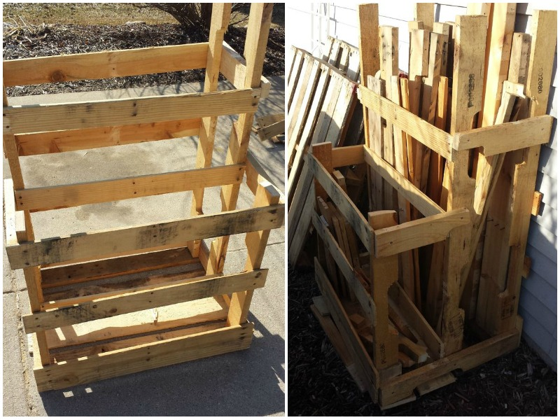 Pallet And Loose Lumber Enclosure Tower