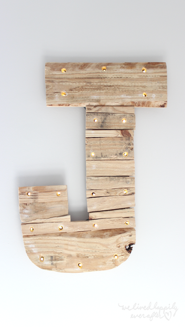 Pallet Letter Marquee