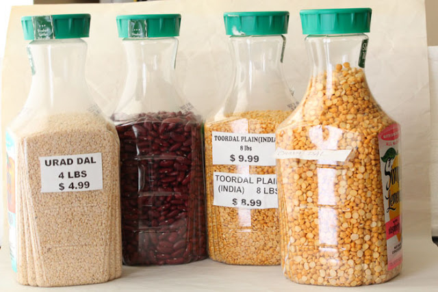 Recycle plastic bottles for dry food storage