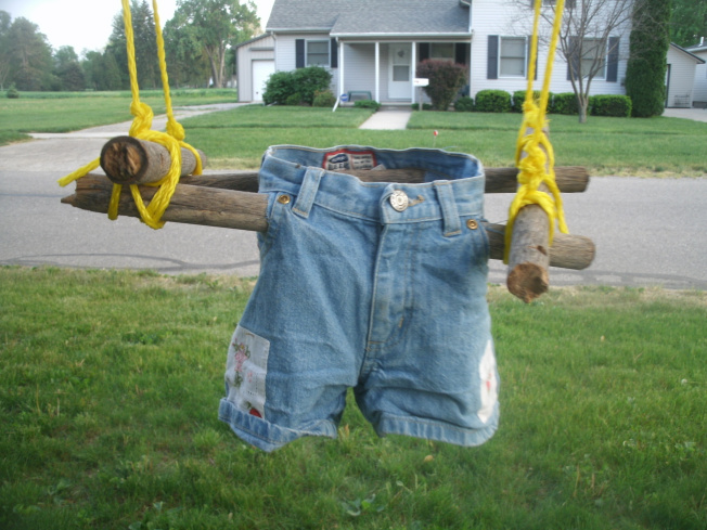 Toddler Swing From Old Jeans