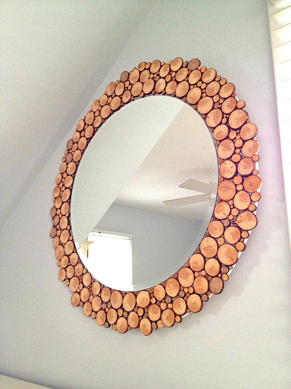 Wood Slices Mirror