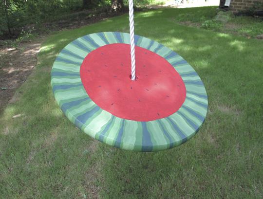 watermelon rope swing