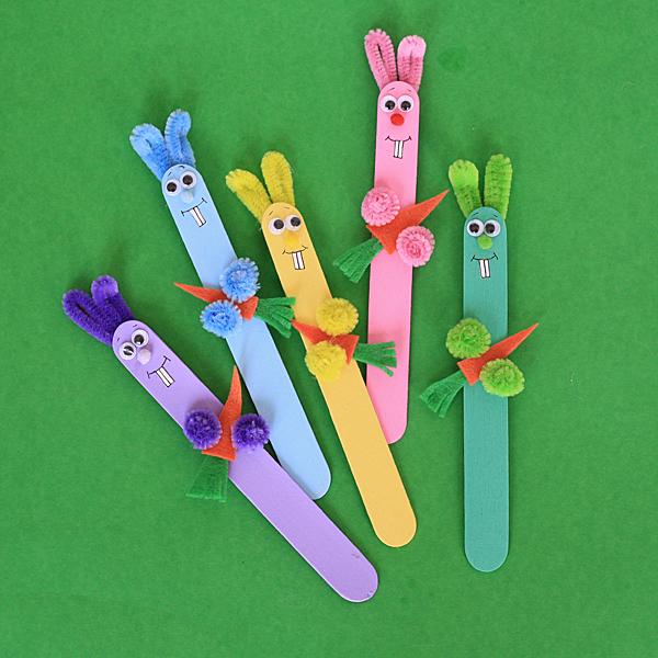 Craft Stick Bunnies