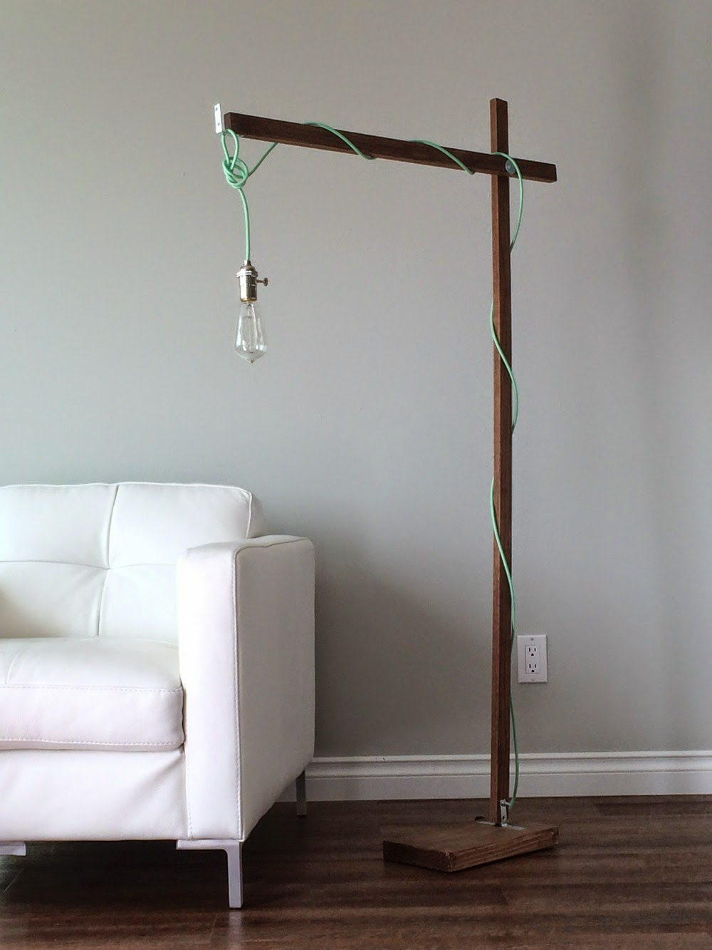Modern Wood Floor Lamp