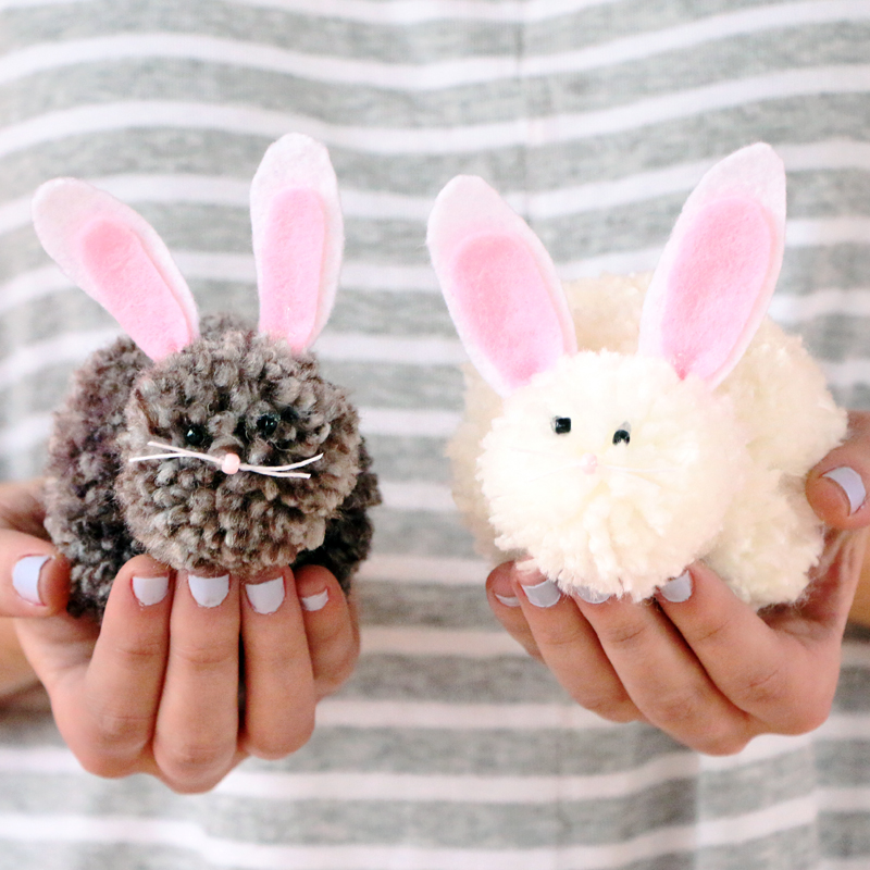 Pom Pom Easter Bunnies