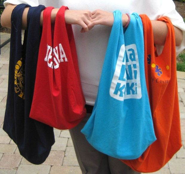 Recycled T-Shirt Tote Bags
