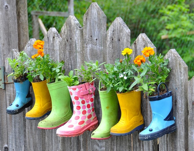 Super Cute Rainboot Planters