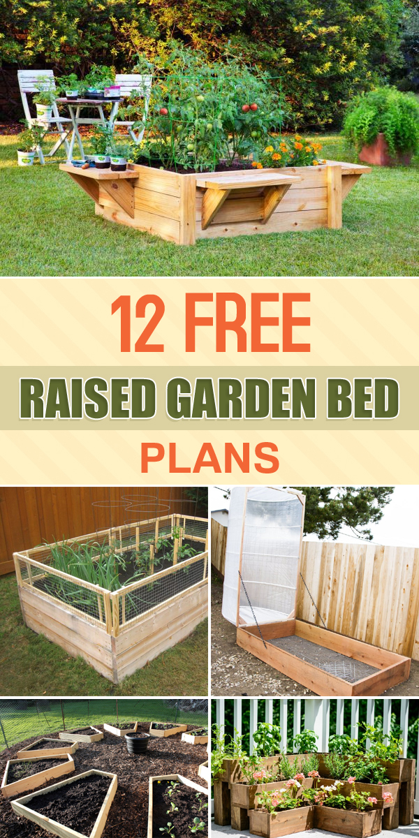 12 free raised garden bed plans for Raised bed garden designs plans