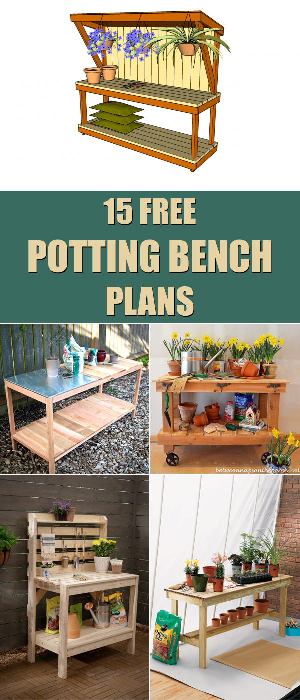 15 Free Potting Bench Plans