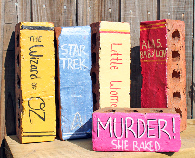 Book Painted Bricks
